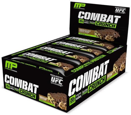 MusclePharm Combat Crunch Bars Chocolate Chip Cookie Dough - 12 Bars (20% Off use code DPS10)