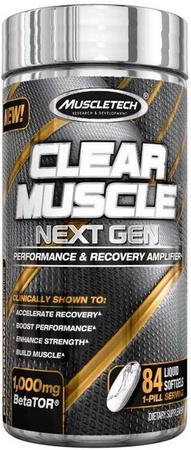 Muscletech Clear Muscle - 84 Capsules (New 1 Cap serving)