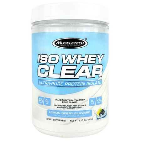 MuscleTech ISO Whey Clear Lemon Berry - 19 Servings
