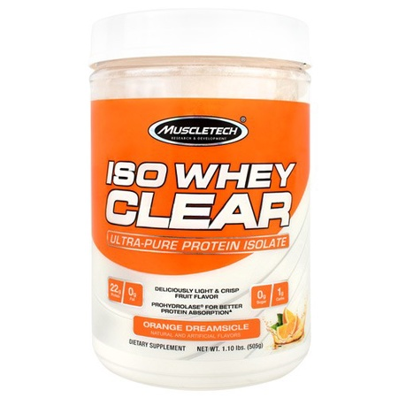 MuscleTech ISO Whey Clear Orange Dreamsicle - 19 Servings