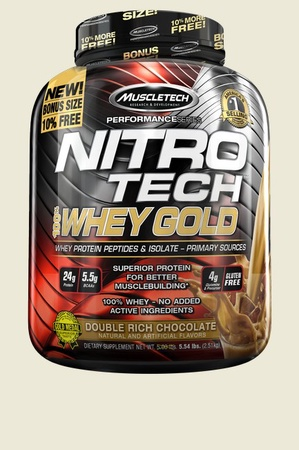 Muscletech NitroTech 100% Whey Gold Double Rich Chocolate - 5.5 Lb