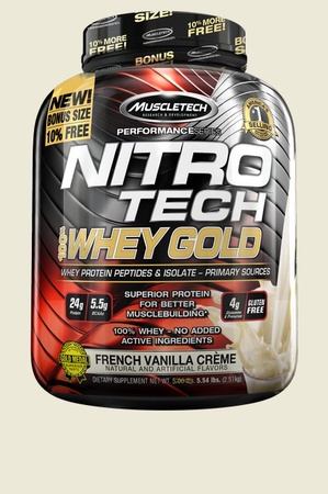Muscletech NitroTech 100% Whey Gold French Vanilla Creme - 5.5 Lb
