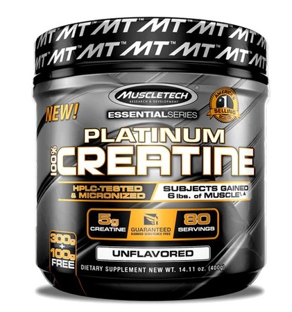 Muscletech Platinum 100% Creatine Unflavored - 80 Servings
