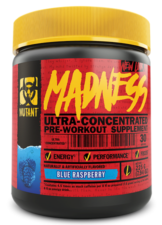Mutant Madness Pre Workout Blue Raspberry - 30 Servings