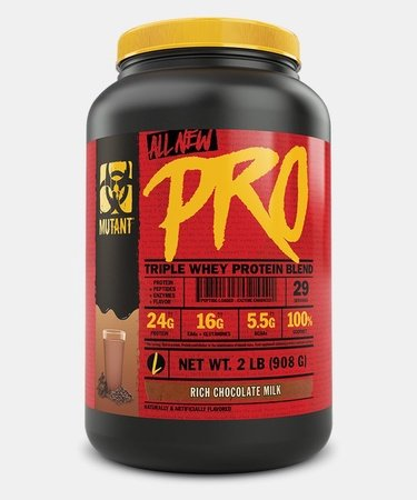 Mutant PRO Triple Whey Protein Blend  Rich Chocolate Milk - 2 Lb (29 Servings)