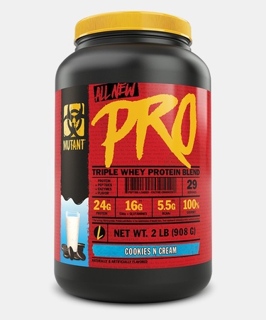 Mutant PRO Triple Whey Protein Blend  Cookies N Cream - 2 Lb (29 Servings)