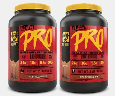 Mutant PRO Triple Whey Protein Blend  Rich Chocolate Milk TWINPACK - 4 Lb (2 x 2 Lb)
