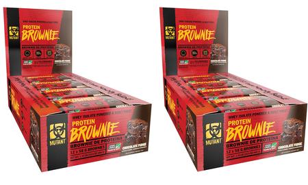 -Mutant Protein Brownies Chocolate Fudge - 24 Brownies (2 x 12 Brownies)  TWINPACK  *Expiration date 9/21