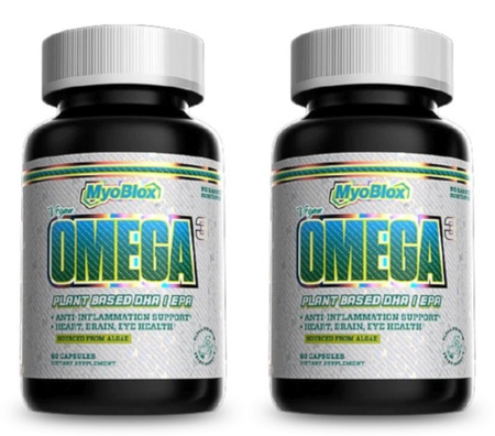 MyoBlox Algae Omega-3 Vegan Friendly - 2 x 60 Cap Btls   TWINPACK