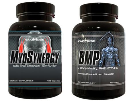 EvoMuse MyoSynergy + BMP Stack - 1 Bottle of each