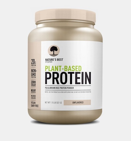 Nature's Best Plant Based Protein Powder Unflavored - 20 Servings