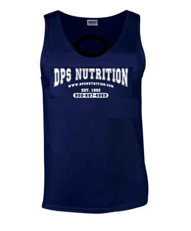Dps Nutrition Tank Top Navy Blue - Large