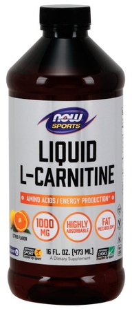 Now Foods L-Carnitine Liquid 1000 Mg Citrus - 16 Oz