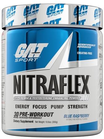 GAT Nitraflex Blue Raspberry - 30 Servings
