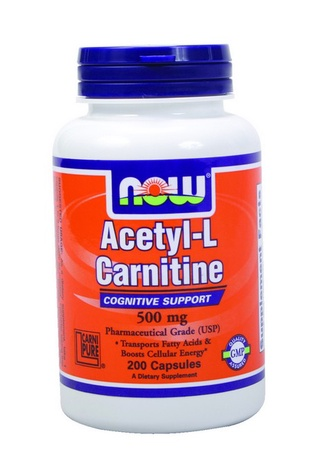 Now Foods Acetyl-L-Carnitine 500 Mg - 200 Cap