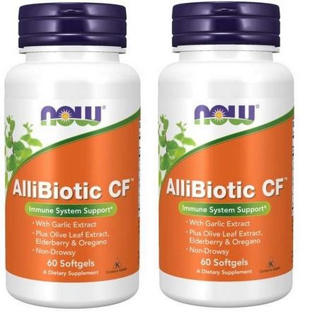 Now Foods AlliBiotic CF - 2 x 60 Softgels  TWINPACK