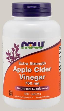 Now Foods Apple Cider Vinegar, Extra Strength 750 Mg - 180 Tab