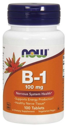 Now Foods B-1 100 mg Tablets - 100 Tablets