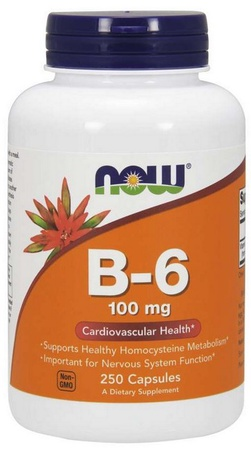 Now Foods B-6 100 Mg - 250 Cap