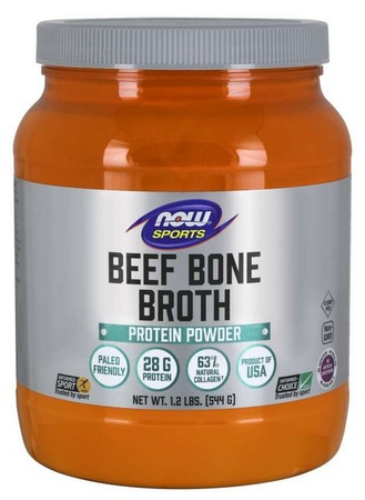 Now Foods Beef Bone Broth Protein Powder  Unflavored - 1.2 Lb