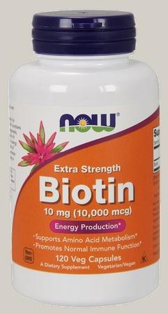 Now Foods Biotin 10 Mg (10,000 mcg) - 120 Cap