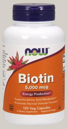 Now Foods Biotin 5 Mg (5000 mcg) - 120 Cap