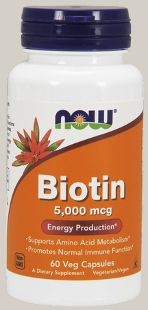 Now Foods Biotin 5 Mg (5000 mcg) - 60 Cap