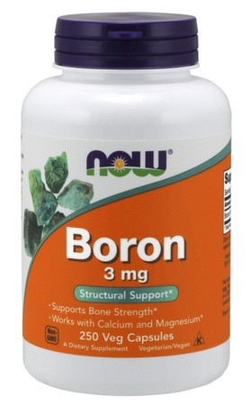Now Foods Boron 3 Mg - 250 Cap