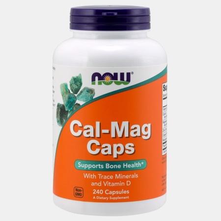 Now Foods Cal-Mag w/Trace Minerals & Vitamin D - 240 Cap