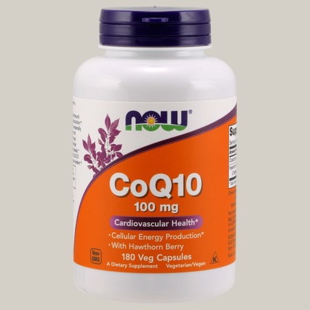 Now Foods CoQ10 100 Mg with Hawthorn Berry  - 180 Cap