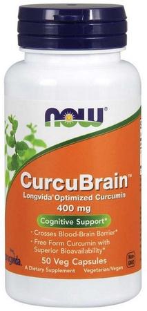 Now Foods CurcuBrain Longvida Optimized Curcumin Extract 400 Mg - 50 Cap