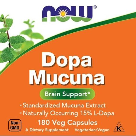 Now Foods DOPA Macuna 15% 500 Mg - 180 Cap