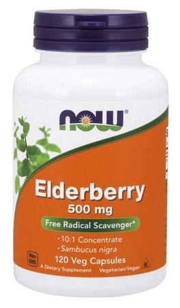 Now Foods Elderberry 500 Mg - 120 Cap