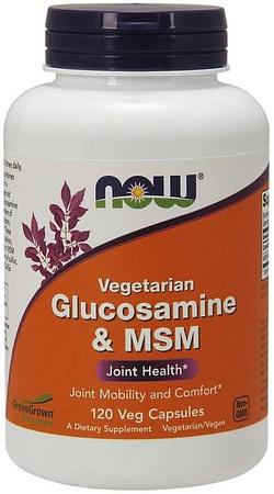 Now Foods Glucosamine & MSM - Vegetarian - 240 Veg Capsules