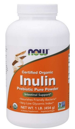 Now Foods Inulin Prebiotic Pure Powder, Organic - 1 Lb