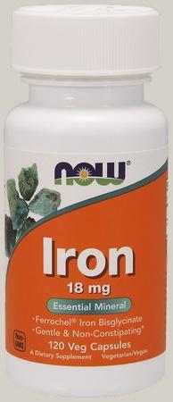 Now Foods Iron 18 Mg - 120 Cap