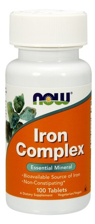 Now Foods Iron Complex Vegetarian Tablets - 100 Tablets