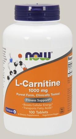 Now Foods L-Carnitine 1000 Mg (Carnipure L-Carnitine Tartrate) - 100 Tab