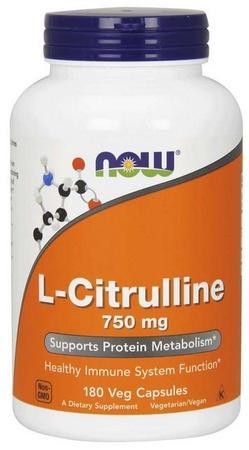 Now Foods L-Citrulline 750 Mg - 180 Cap