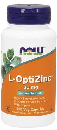 Now Foods L-OptiZinc 30 Mg - 100 Veg Capsules