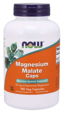 Now Foods Magnesium Malate Capsules - 180 Cap