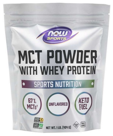 Now Foods MCT Powder with Whey Protein Unflavored - 1 Lb