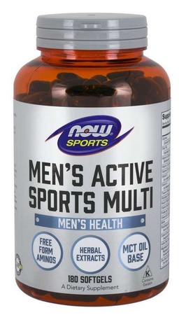 Now Foods Men's Active Sports Multi Softgels - 180 Softgels