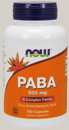 Now Foods PABA 500 Mg - 100 Cap