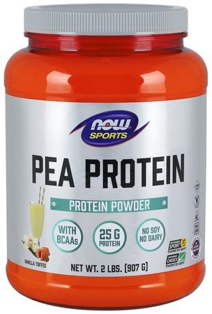 Now Foods Pea Protein Non-GMO Vanilla Toffee - 2 Lb