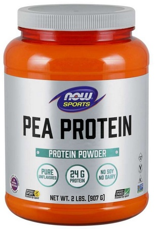 Now Foods Pea Protein Non-GMO Natural Unflavored - 2 Lb