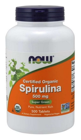 Now Foods Spirulina  Certified Organic - 500 Tab