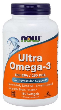 Now Foods Ultra Omega 3 - 500 Mg Epa + 250 Mg Dha /Cap - 180 Softgels