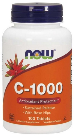 Now Foods Vitamin C 1000 Mg Sustained Released w/Rose Hips - 100 Tab