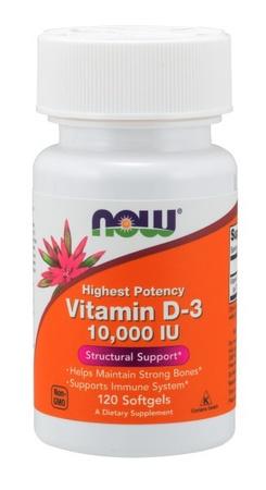 Now Foods Vitamin D-3 10,000 IU - 120 Softgels